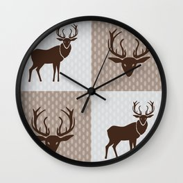 The Forest King Brown Wall Clock