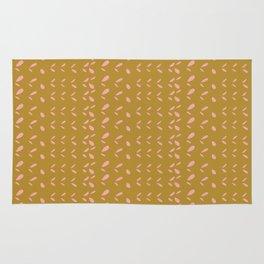 Abstract blush pink mustard yellow watercolor geometrical pattern Rug