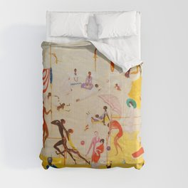African American Masterpiece 'Summertime, Asbury Park, South' by Florine Stettheimer Comforters