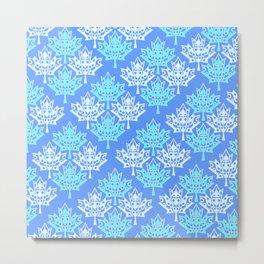 Maple Leaf Heart Pattern (snow_season) Metal Print