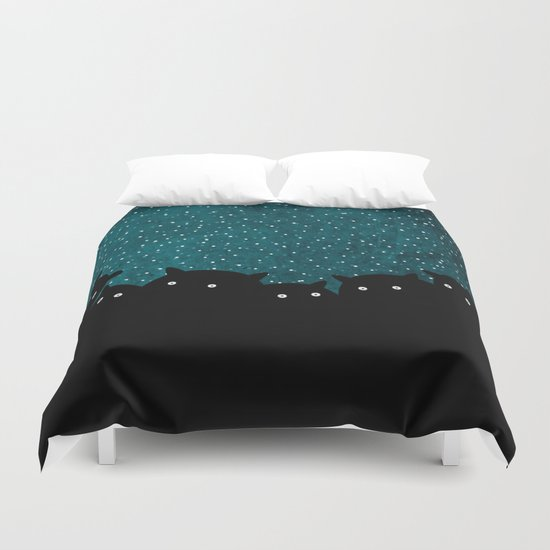 Squirrels by night #1 Duvet Cover