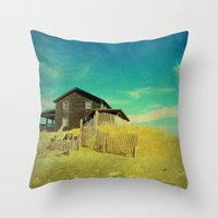 the cure Throw Pillows featuring The Cure For Anything by Brianne Lanigan