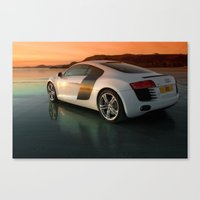 audi Canvas Prints featuring Audi R8 by Rory Trappe