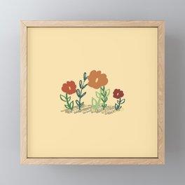 Flower Bed Framed Mini Art Print