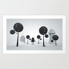 BLK FOREST Art Print
