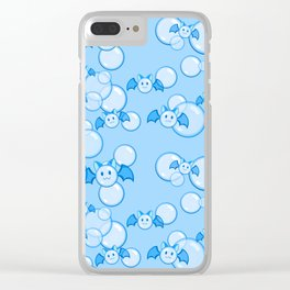 Bubbles and Bats Dark Blue Clear iPhone Case