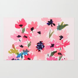 Peachy Wildflowers Rug