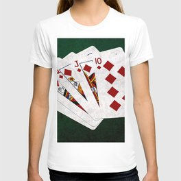 Poker Royal Flush Diamonds T-shirt