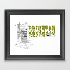 Brighton Beach Elevated Station Framed Art Print