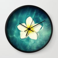 lily Wall Clocks featuring Lily by Ken Seligson