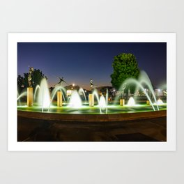 Playing Children Fountain - Kansas City Missouri Art Print
