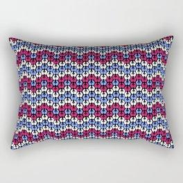 Blue and Pink Fairisle Rectangular Pillow