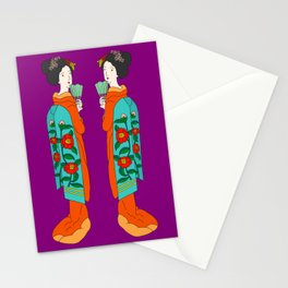 Twin Geisha Stationery Cards