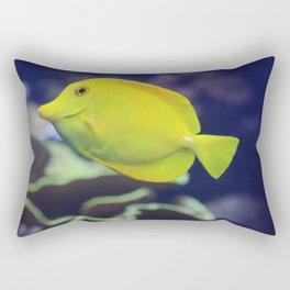 Yellow Tang Fish Rectangular Pillow