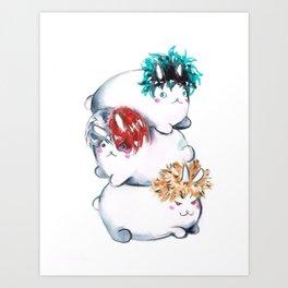 My Hero Academia MHA Kawaii Bunnies Art Print