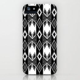B&W Ikat #society6 #ikat iPhone Case