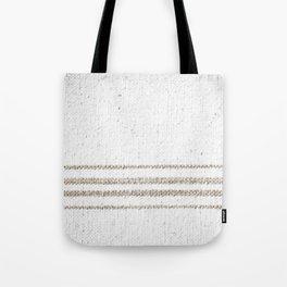 Vintage Farmhouse Grain Sack - Sandstone Stripes Tote Bag