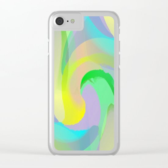 Soft Rainbow Abstract - Painterly Clear iPhone Case