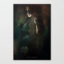 The dark witch Canvas Print