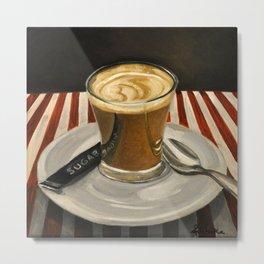 Cafe Cortado Metal Print