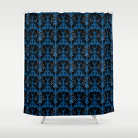 rorschach Shower Curtains featuring Rorschach Gemini by Volkstricken