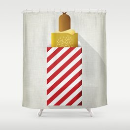 French Hotdog Shower Curtain