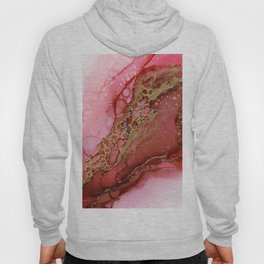 Red Gold Dragon Scales Abstract Ink Part 2 Hoody