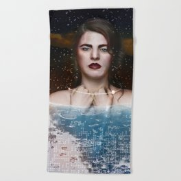 Star Child Beach Towel
