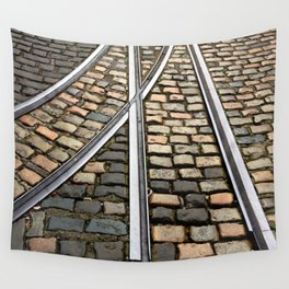 Rails and Cobbles Wall Tapestry