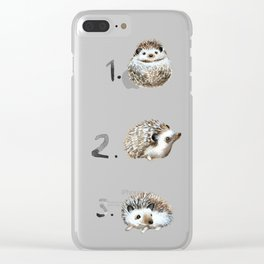 Three Hedgehogs Clear iPhone Case