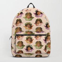 Pastel Victorian Cherub Repeat in Sweet Peach Backpack