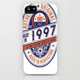 Made-In-1997-Birthday-T-Shirt-20th-Birthday-Gift-Idea iPhone Case