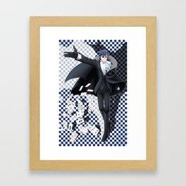 Ivy Phantom (blue) Framed Art Print