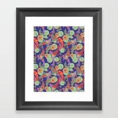 Bright Koi Recolour Framed Art Print