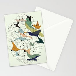 Chained birds Stationery Cards