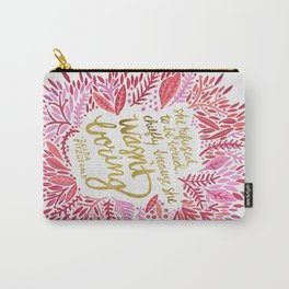 Zelda Fitzgerald – Pink on White Carry-All Pouch
