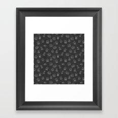 Indian Baby Elephants Blackout Framed Art Print