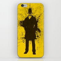 watchmen iPhone & iPod Skins featuring WATCHMEN - RORSCHACH (YELLOW EDITION) by Zorio
