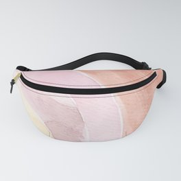 Abstract Watercolor Rainbow Fanny Pack
