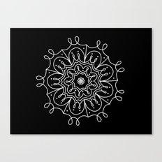 Swirly mandala Canvas Print