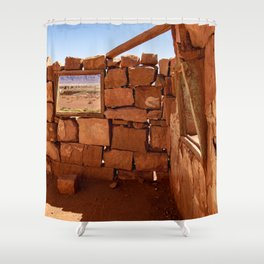 Cliff_Dwellers Stone_House - II Shower Curtain