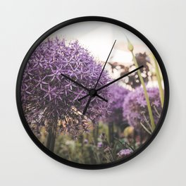 purple decorative garlic Wall Clock