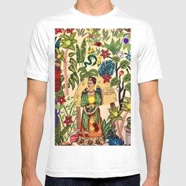 Frida's Garden, Casa Azul Lush Greenery Frida Kahlo Landscape Painting T-shirt