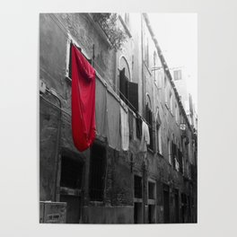 """Superman""""s Laundry Day in Venice, Italy Poster"""
