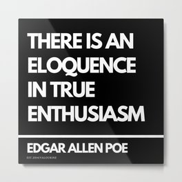 71  Edgar Allen Poe Quotes   201012  Existentialism Nihilism Existentialist Philosophy Writer Raven Metal Print