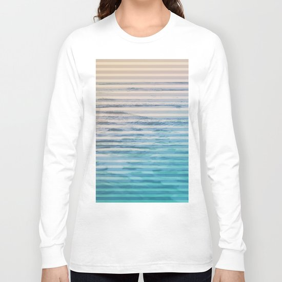 Sunrise Ocean Stripes Long Sleeve T-shirt