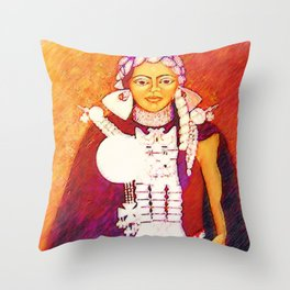 Daughter of the bright sun Throw Pillow