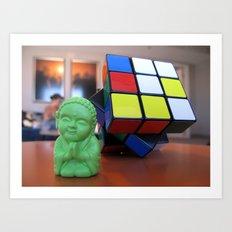 Little Bu Cube Art Print