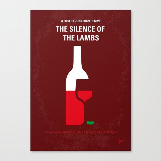 No078 My Silence of the lamb minimal movie poster Canvas Print