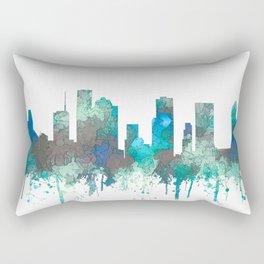 Houston, Texas Skyline - SG Jungle Rectangular Pillow